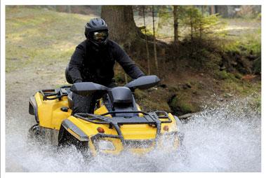 Riding ATVs in Rib Lake