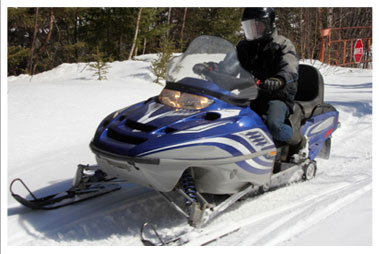 Snowmobile Trails in Rib Lake